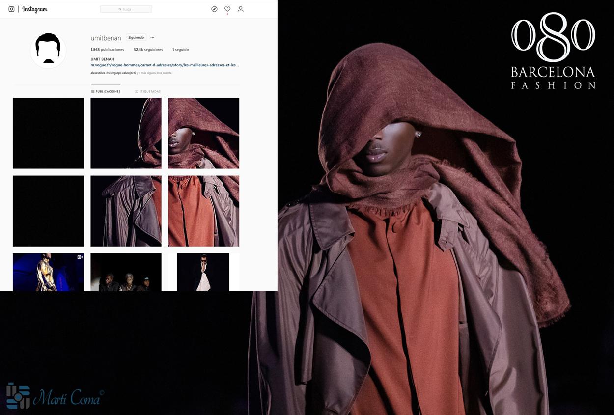 """""""Umit Benan, fotografía de Martí Coma en el 080 Fashion Barcelona en su instagram"""""""